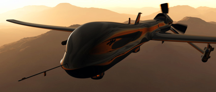 Predator Type Drone 3D artwork